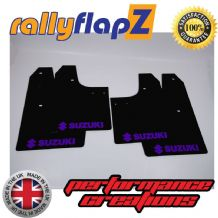 SWIFT 2ND GEN (2008-2010) BLACK MUDFLAPS (Logo Purple)